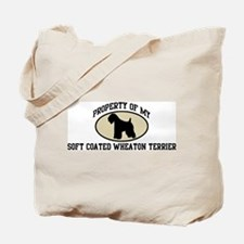 Property of Soft Coated Wheat Tote Bag