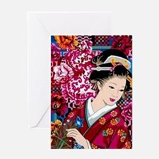 Cool Geisha Greeting Card