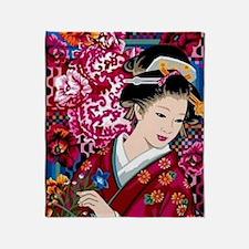 Cute Geisha Throw Blanket