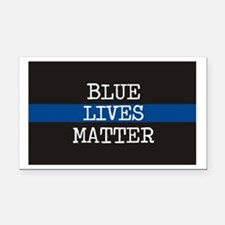 Blue Lives Matter Rectangle Car Magnet