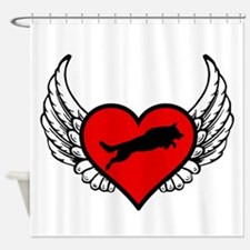Unique Red wings Shower Curtain