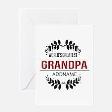 Custom Worlds Greatest Grandpa Greeting Card