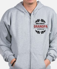 Custom Worlds Greatest Grandpa Zip Hoodie