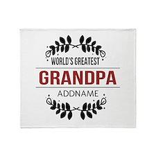 Custom Worlds Greatest Grandpa Throw Blanket