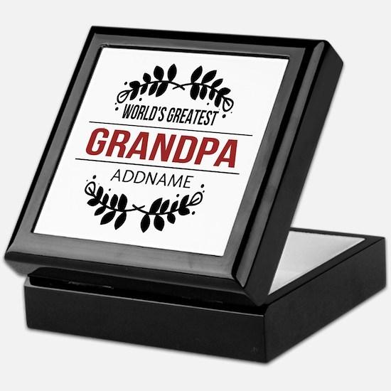 Custom Worlds Greatest Grandpa Keepsake Box