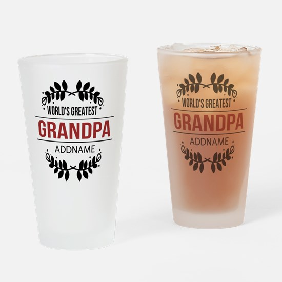 Custom Worlds Greatest Grandpa Drinking Glass