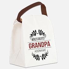 Custom Worlds Greatest Grandpa Canvas Lunch Bag