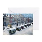 Snow On Canal St. Greeting Cards (Pk of 10)