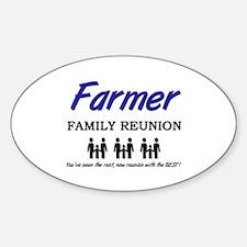 Farmer Family Reunion Oval Decal
