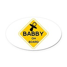 Titty Babby On Board' Oval Car Magnet