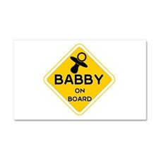 Titty Babby On Board' Car Magnet 20 X 12