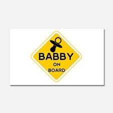 Titty Babby On Board' Car Magnet 20 X 12