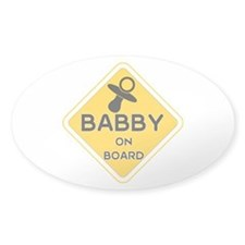 Titty Babby On Board' Sticker (oval)