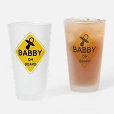 TITTY BABBY ON BOARD' Drinking Glass