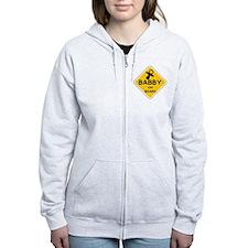 TITTY BABBY ON BOARD' Zip Hoodie