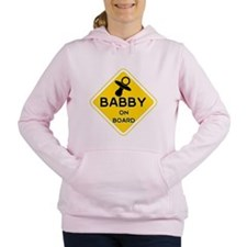 TITTY BABBY ON BOARD' Women's Hooded Sweatshirt