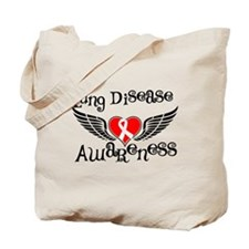 Lung Disease Awareness Tote Bag