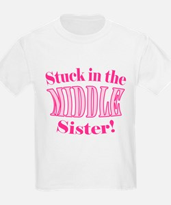 Middle Sister Stuck Pink T-Shirt