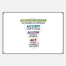 Acknowledge Accept Allow Act Banner