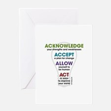 Acknowledge Accept Allow Act Greeting Card