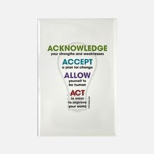 Acknowledge Accept Allow Act Rectangle Magnet