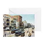 Old Canal St. Greeting Cards (Pk of 10)