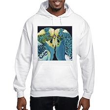 Budgie Parakeet Love Hoodie Sweatshirt