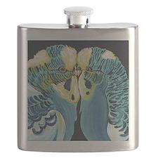 Budgie Parakeet Love Flask