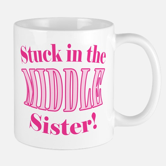 Middle Sister Stuck Pink Mug