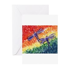 Cute Purple dragonfly Greeting Cards (Pk of 20)