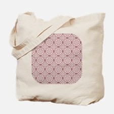 Marsala Red & White Lace 2 Tote Bag