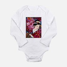 Japanese Geisha Woman Lady Art Body Suit