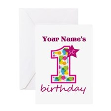 1st Birthday Splat - Personalized Greeting Card