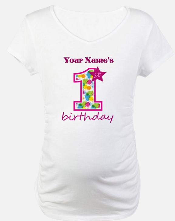1st Birthday Splat - Personalize Shirt