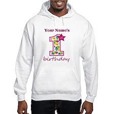 1st Birthday Splat - Personalize Jumper Hoody