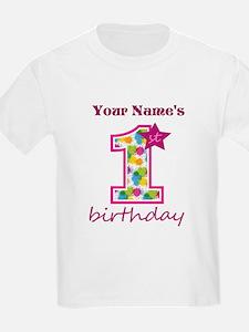 1st Birthday Splat - Personaliz T-Shirt