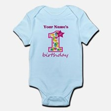 1st Birthday Splat - Personalized Infant Bodysuit