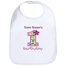 1st Birthday Splat - Personalized Bib