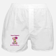 1st Birthday Splat - Personalized Boxer Shorts