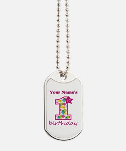 1st Birthday Splat - Personalized Dog Tags