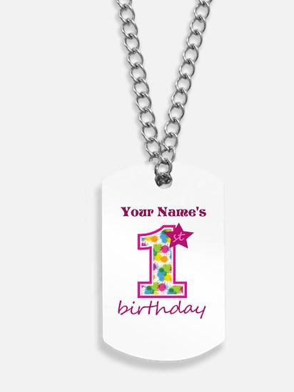1st Birthday Splat - Personalized Dog Tags