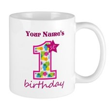 1st Birthday Splat - Personalized Mug