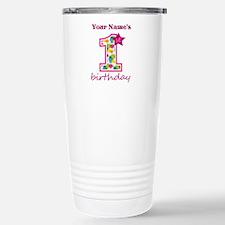 1st Birthday Splat - Pe Travel Mug