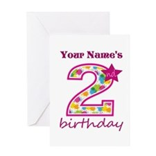 2nd Birthday Splat - Personalized Greeting Card
