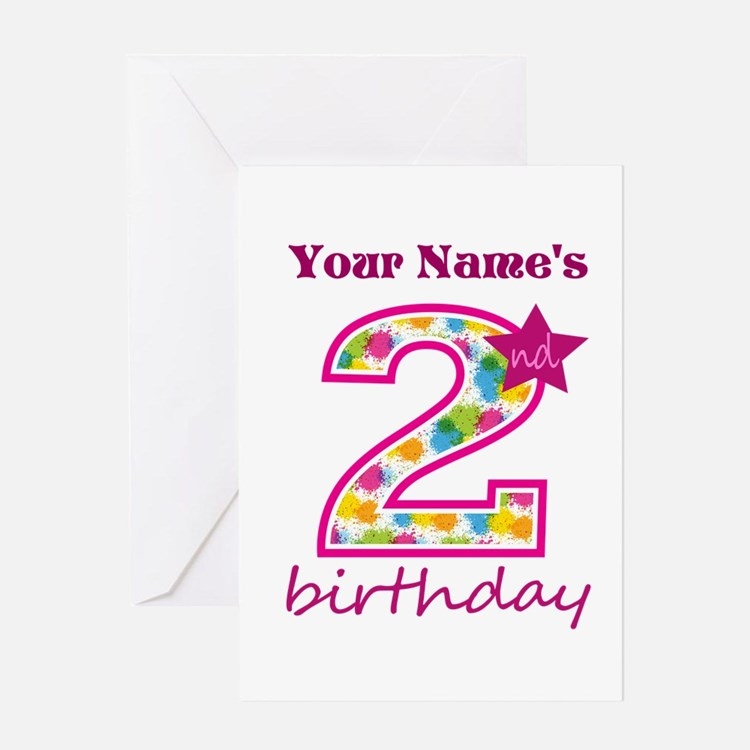 2nd Birthday Splat - Personalized Greeting Card