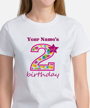 2nd Birthday Splat - Personalized Women's T-Shirt