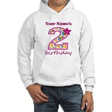2nd Birthday Splat - Personalize Jumper Hoody