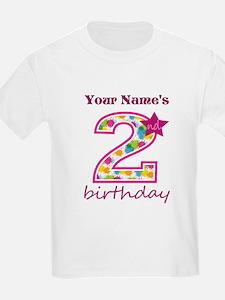 2nd Birthday Splat - Personaliz T-Shirt