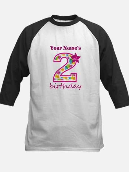 2nd Birthday Splat - Personal Kids Baseball Jersey