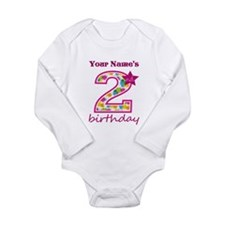 2nd Birthday Splat - P Long Sleeve Infant Bodysuit